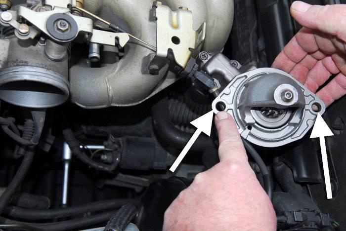 Tornillo de fijación del motor de arranque