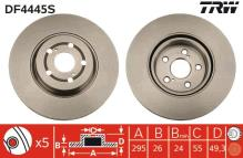 TRW DF4445S Disco de freno par