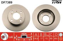 Bosch Disques De Frein Revêtements Devant ø231 SUZUKI ALTO 3898691