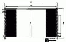 Denso AIRE ACONDICIONADO CONDENSADOR DCN40016-A//C-Fits Honda Accord VII