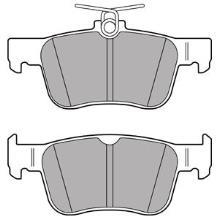 Arrière Plaquettes de frein HONDA CIVIC 1.3 Hybrid Saloon Mk VIII 05-13 95 88.8x46.84x14.1mm
