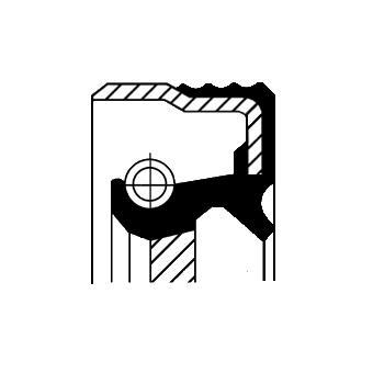 Bague d'étanchéité, vilebrequin CORTECO 01026520B