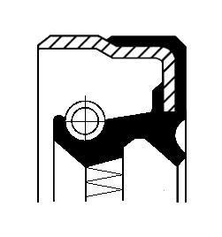 Bague d'étanchéité, différentiel CORTECO 49355002