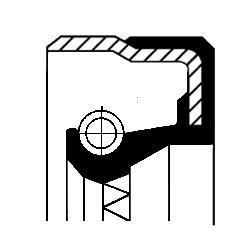 Bague d'étanchéité, différentiel CORTECO 49355695