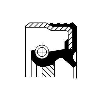 Bague d'étanchéité, vilebrequin CORTECO 12019078B