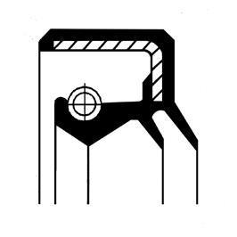 Bague d'étanchéité, vilebrequin CORTECO 01019970B