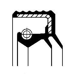 Bague d'étanchéité, vilebrequin CORTECO 12017026B