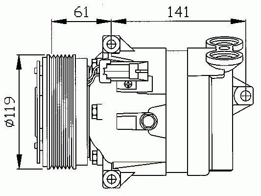 Compresseur, Climatisation NRF B.V. 32021