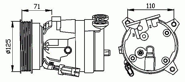 Compresseur, Climatisation NRF B.V. 32023