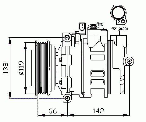 Compresseur, Climatisation NRF B.V. 32111