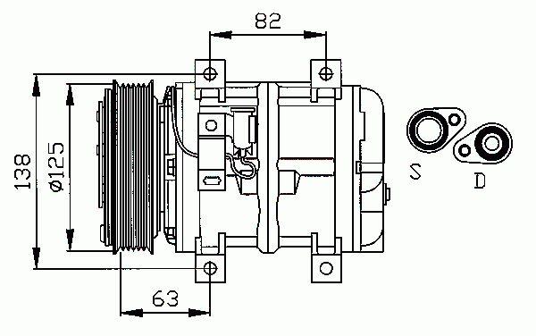 Compresseur, Climatisation NRF B.V. 32112