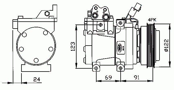 Compresseur, Climatisation NRF B.V. 32205