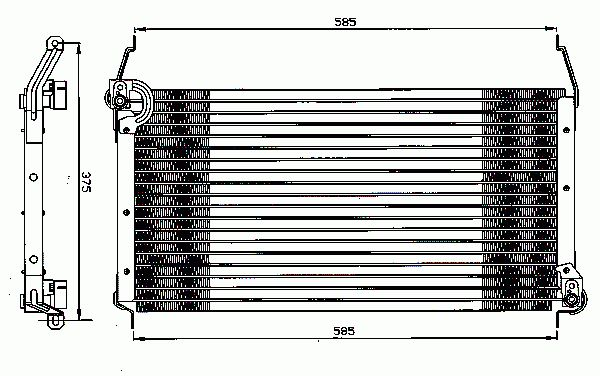 Condenseur, Climatisation NRF B.V. 35259