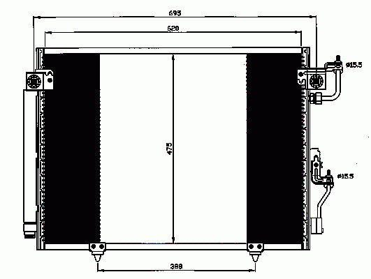 Condenseur, Climatisation NRF B.V. 35619