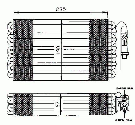 Evaporateur Climatisation NRF B.V. 36026