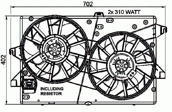 Ventilateur De Refroidissement Du Moteur NRF B.V. 47003