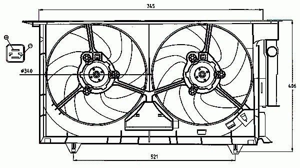 Ventilateur De Refroidissement Du Moteur NRF B.V. 47075