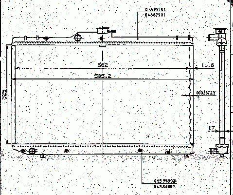 Radiateur Moteur NRF B.V. 506725