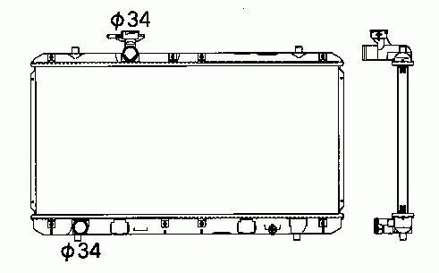 Radiateur Moteur NRF B.V. 53428
