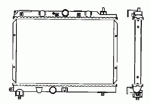 Radiateur Moteur NRF B.V. 55306