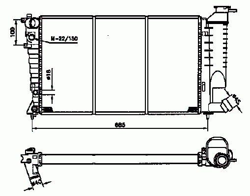 Radiateur Du Moteur NRF B.V. 58233