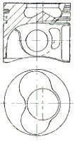 Piston NURAL 87-114900-25