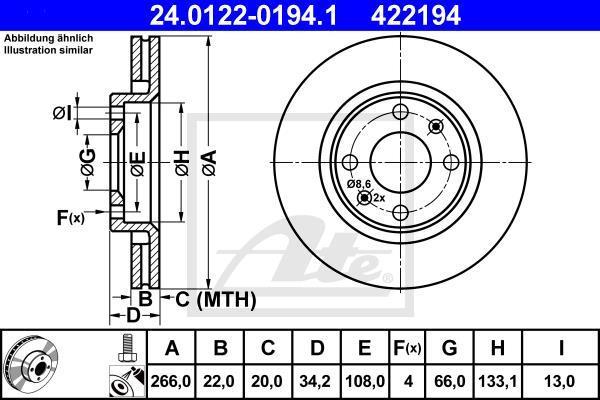 ATE 24011401161 Frein /à disque