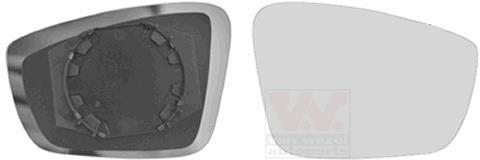 1 Miroir de Verre convient pour VW Rétroviseurs Extérieurs VAN WEZEL 5701832 HAGUS