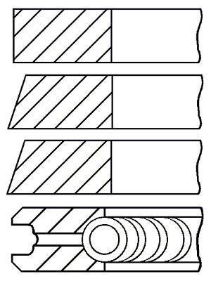 Jeu de segments de pistons GOETZE 08-522400-00