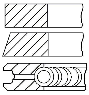 Jeu de segments de pistons GOETZE 08-525900-00