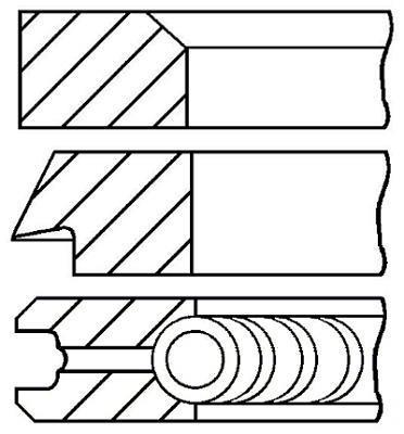 Jeu de segments de pistons GOETZE 08-129500-00