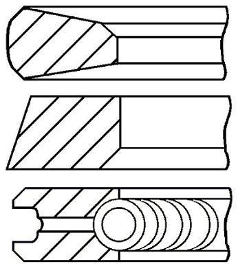 Jeu de segments de pistons GOETZE 08-744600-00