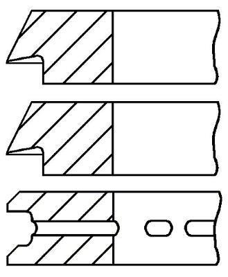 Jeu de segments de pistons GOETZE 08-741200-00