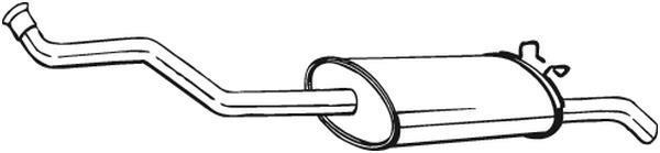 Bosal 228-001 Silencieux arri/ère