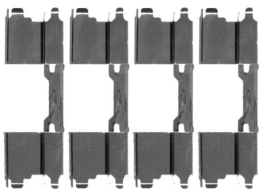 Kit d'accessoires, plaquette de frein à disque HELLA PAGID 8DZ 355 203-501