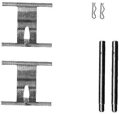 Kit d'accessoires, plaquette de frein à disque HELLA PAGID 8DZ 355 203-191