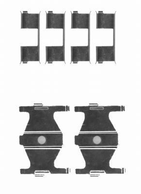 Kit d'accessoires, plaquettede frein à disque HELLA PAGID 8DZ 355 204-191