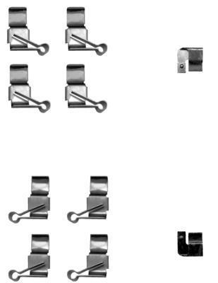 Kit d'accessoires, plaquette de frein à disque HELLA PAGID 8DZ 355 205-191