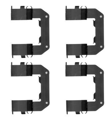 Kit d'accessoires, plaquette de frein à disque HELLA PAGID 8DZ 355 205-221