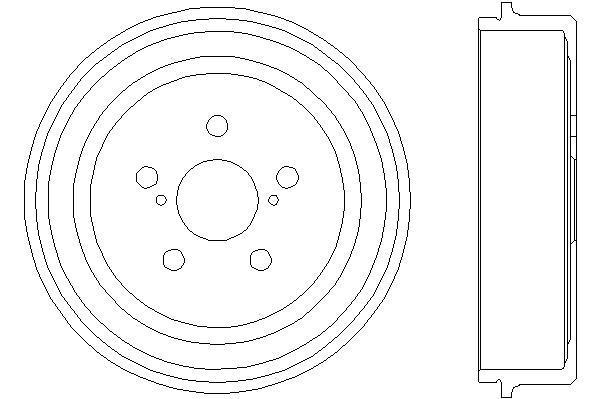 Jeu de 2 tambours de frein HELLA PAGID 8DT 355 300-501