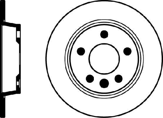 Jeu de 2 disques de frein HELLA PAGID 8DD 355 104-501