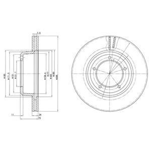 Genuine Delphi Avant Ventilé Disques De Frein Lot Paire-BG2763