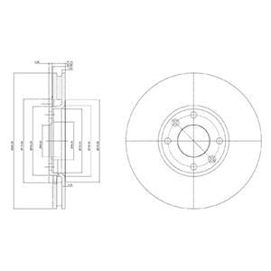 Genuine Delphi Avant Ventilé Disques De Frein Lot Paire-BG3951