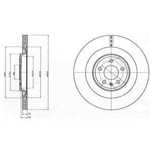 Jeu De 2 Disques De Frein DELPHI BG4387C