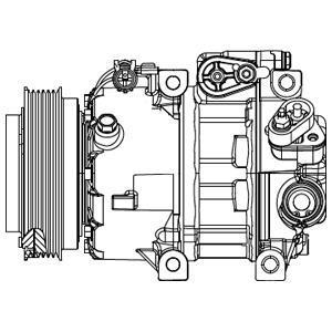 Compresseur, Climatisation DELPHI CS20415