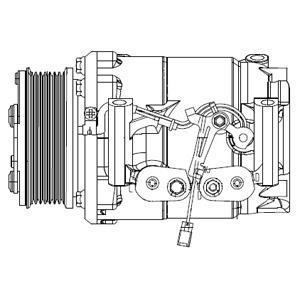 Compresseur, Climatisation DELPHI CS20492