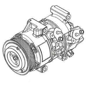 Compresseur, Climatisation DELPHI CS20495