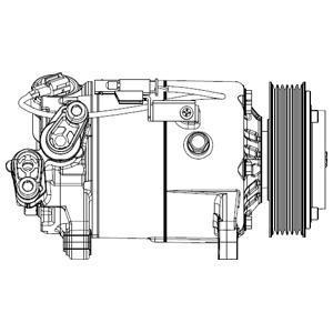Compresseur, Climatisation DELPHI CS20500