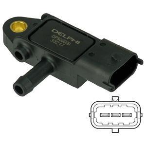 Capteur, pression des gaz échappement DELPHI DPS00009