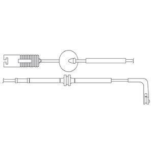 Kit de contact avertisseur, usure des garnitures de freins DELPHI LZ0155